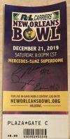 2019 New Orleans Bowl Ticket Stub Appalachian State vs UAB
