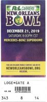 2019 New Orleans Bowl ticket stub Appalachian State UAB