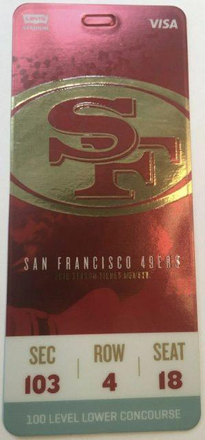 2019 San Francisco 49ers Season Ticket Pass