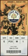 2020 Citrus Bowl Ticket Stub Alabama vs Michigan