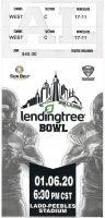 2020 Lendingtree Bowl ticket stub LA Lafayette vs Miami Ohio