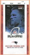 2020 NFC Wild Card Game ticket stub Titans vs Patriots
