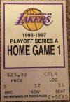 Kobe Bryant Playoff Debut ticket stub Lakers vs Portland