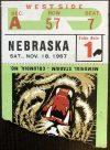 1967 NCAAF Missouri Tigers ticket stub vs Nebraska