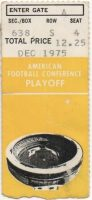 1975 AFC Divisional Game ticket stub Steelers Colts