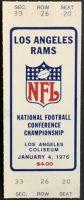 1976 NFC Championship Game ticket stub Rams Cowboys