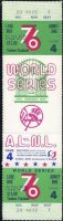 1976 World Series Game 4 full ticket Reds at Yankees