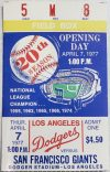 1977 Tommy Lasorda managerial debut ticket stub