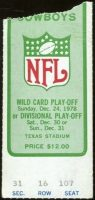1978 NFC Divisional Game ticket stub Cowboys Falcons