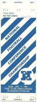 1981 NFC Championship Game ticket stub Eagles Cowboys