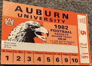 1982 NCAAF Auburn Tigers season pass Bo Jackson debut