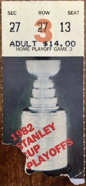 1982 NHL Playoffs Ticket Stub Oilers vs Kings
