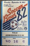 1982 Soccer Bowl 82 Ticket Stub Cosmos vs Sounders