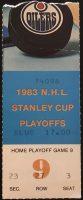 1983 Dave Semenko First Playoff Goal Ticket Stub