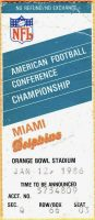 1986 AFC Championship Game Game ticket stub Dolphins Patriots