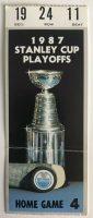 1987 Playoffs Game 1 ticket stub Oilers Jets