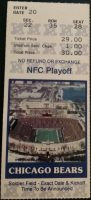1988 NFC Divisional Playoff Game ticket stub Bears Eagles