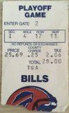 1989 AFC Divisional Game ticket stub Bills vs Oilers