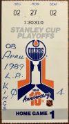 1989 NHL Playoffs Ticket Stub Oilers vs Kings