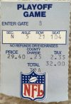 1991 AFC Wild Card Game ticket stub Bills Chiefs