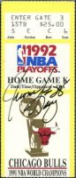 1992 NBA Finals Game 1 ticket stub Bulls vs Trail Blazers