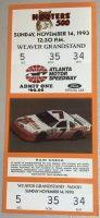 1993 Hooters 500 Ticket Stub