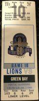 1994 Detroit Lions ticket stub vs Packers