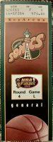 1996 NBA Finals Game 4 ticket stub SuperSonics Bulls