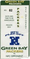 1997 NFC Divisional Game ticket stub 49ers at Packers