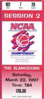 1997 NCAA Tourney ticket stub UCLA vs Minnesota