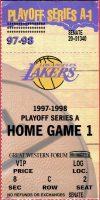 1998 NBA Playoffs ticket stub Lakers vs Trail Blazers