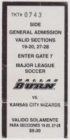1999 MLS Dallas Burn ticket stub KC Wizards