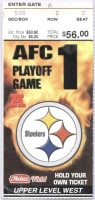 2002 AFC Divisional Game ticket stub Ravens Steelers
