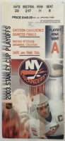 2003 Stanley Cup Playoff Ticket Stub Islanders Senators