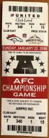2006 AFC Championship Game ticket stub Broncos Steelers