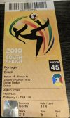 2010 FIFA World Cup ticket stub Portugal Brazil