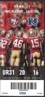 2013 NFC Divisional Game ticket stub 49ers Packers