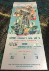 2020 Super Bowl ticket stub silver version Chiefs vs 49ers