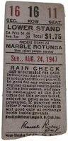 1947 Brooklyn Dodgers Ticket Stub Jackie Robinson rookie triple