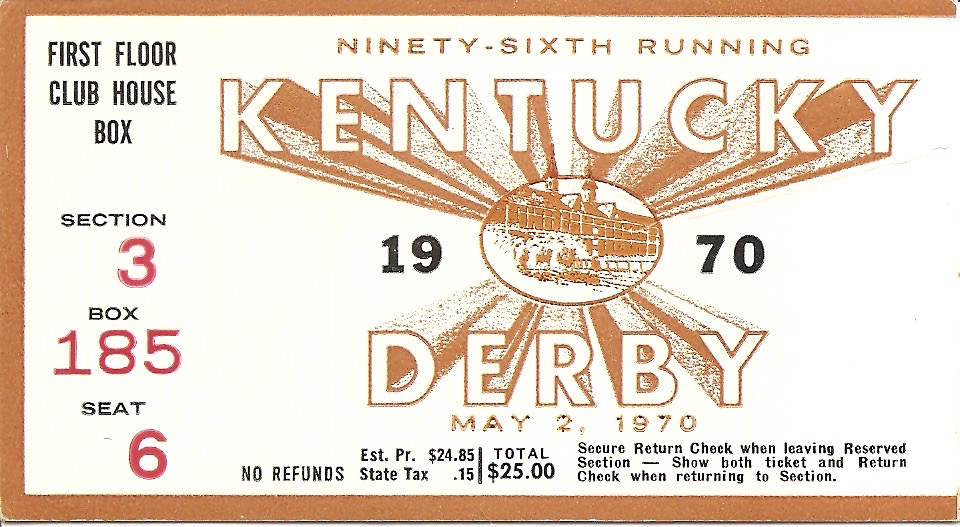 Kentucky Derby Ticket Stubs by a Nose
