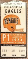 1973 Cincinnati Bengals ticket stub vs Eagles