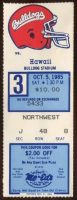 1985 NCAAF Fresno State ticket stub vs Hawaii