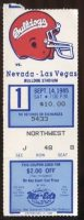 1985 NCAAF Fresno State ticket stub vs UNLV