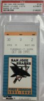 1991 San Jose Sharks ticket stub vs Calgary Flames 1st win