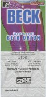 2000 Beck ticket stub Hamburg