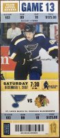 2007 St. Louis Blues ticket stub vs Blackhawks