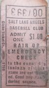 Salt Lake Angels ticket stub
