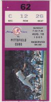 1985 Albany Colonie Yankees ticket stub vs Pittsfield