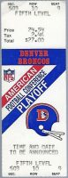1988 AFC Divisional Game ticket stubs Broncos Oilers