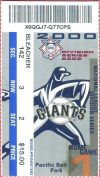 2000 NLDS Game 1 ticket stub Giants vs Mets